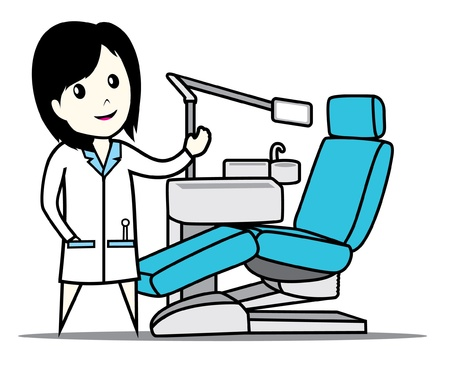 dentist chair Vector
