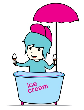 ice cream man Stock Vector - 17097299