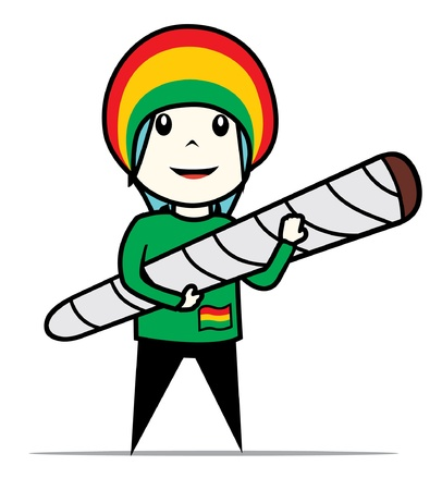 rasta man Vector