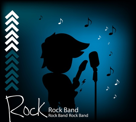 Rock and Roll background Vector