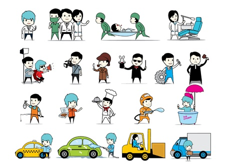 set of people collection Vector