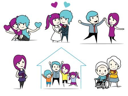 verhaal van liefde Stock Illustratie