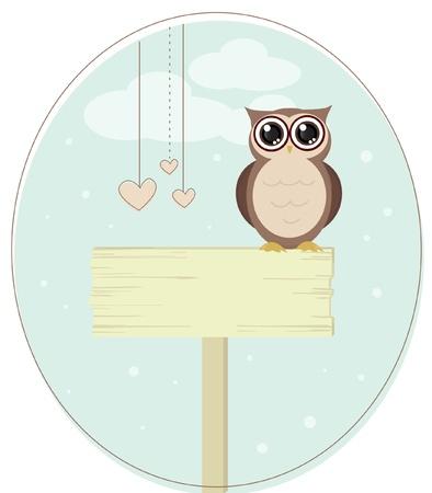 cute owl bird vector