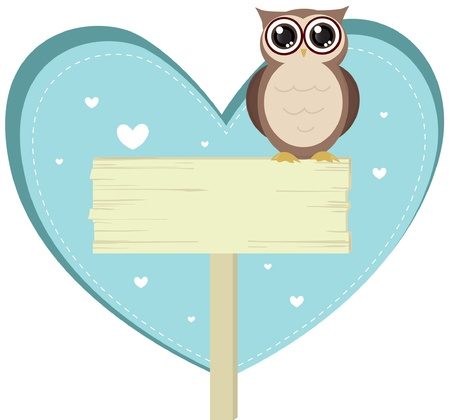 cute love owl bird Vector