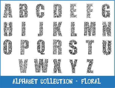 alphabet - floral