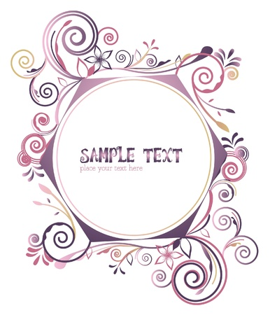 colorful frame - border floral  Vector