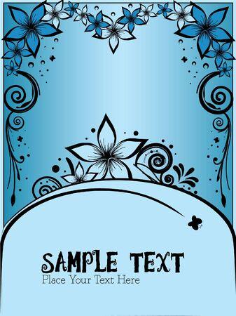 blue elegant floral vector Vector