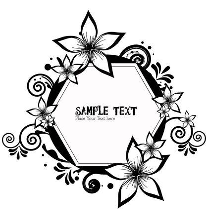 frame border floral vector Vector