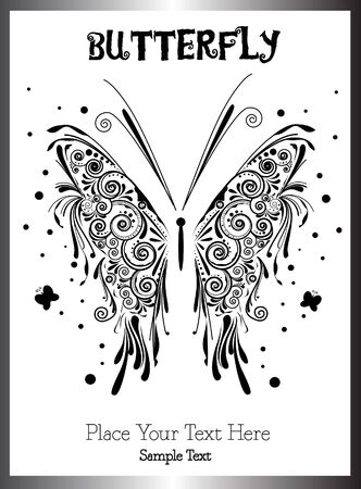 butterfly - tattoo Vector