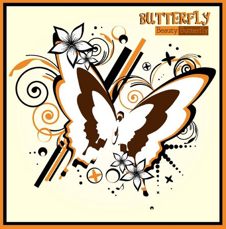 Butterfly - beauty - vector Vector