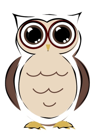 owl bird isolated Vector