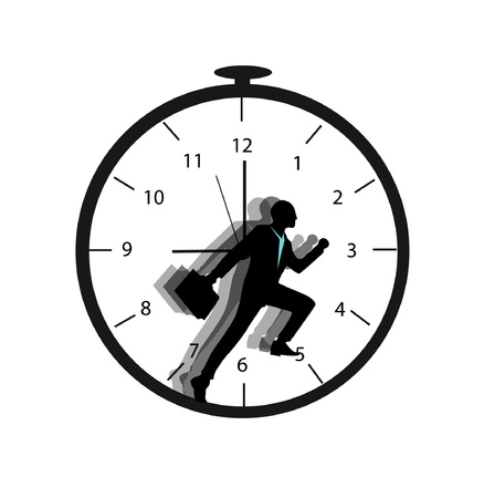 business people with deadline time Vector