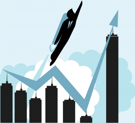 growth business concept with rocket