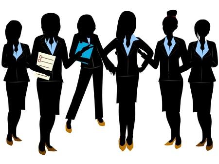 비즈니스 여성 팀