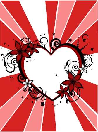 love - flower - card vector Vector