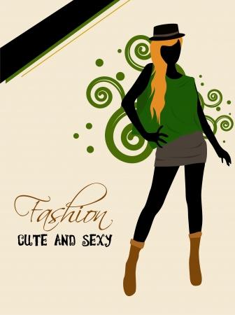 the top model: fashion girl woman shopping silhouette