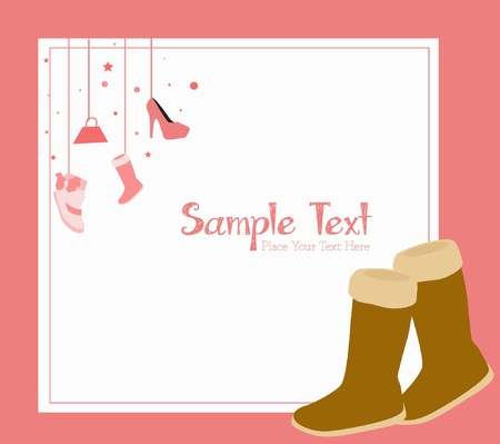fashion girl pink background Vector