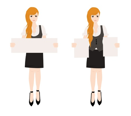 business woman with blank sign  Vector