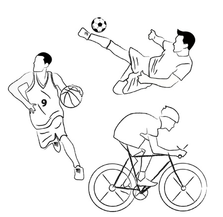 set of sport collection  Vector