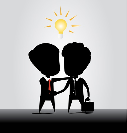 business concept with idea Vector