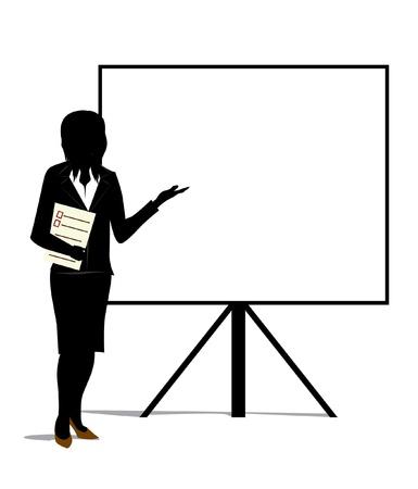 woman presentation Stock Vector - 18812020