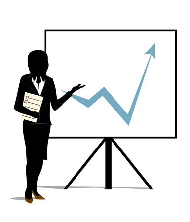 woman speaking: growth presentation