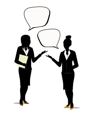 job satisfaction: people speaking