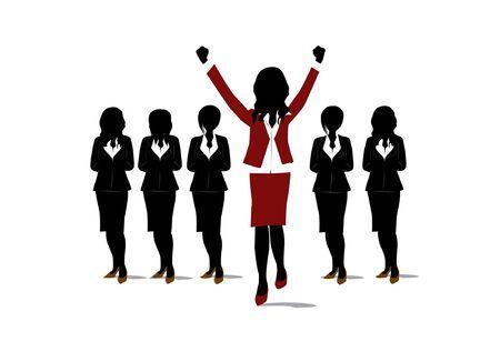 caucasian woman: goal concept