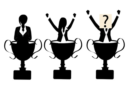 trophy silhouette Stock Vector - 19241801