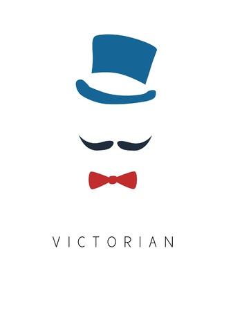 Victoriaanse Man vintage Stock Illustratie
