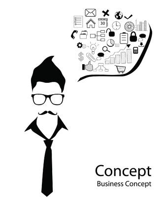 social security: business man concept
