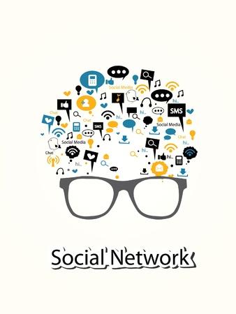 sociaal netwerk begrip vector