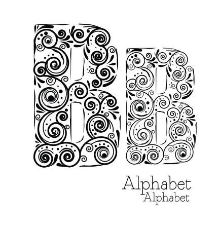 B alphabet typography floral vector Vector