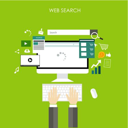 internet marketing: internet of things searching technology Illustration