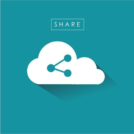 internet symbol: sharing symbol icon internet of things cloud