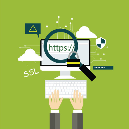 domain concept flat design Stock Illustratie