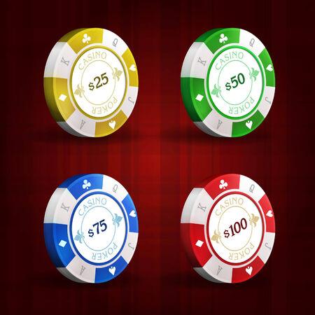 stake: gambling chips Illustration