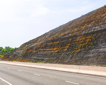 North South high way side view in Jamaica- Kingston - Ocho Rios