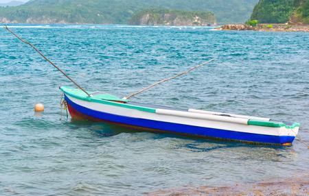Boat by Caribbean sea t Port Maria, St. Mary, Jamaica
