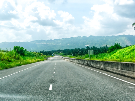 North South high way in Jamaica- Kingston - Ocho Rios Banque d'images