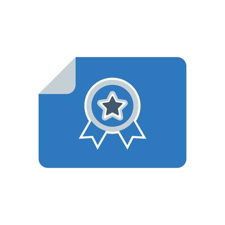 Certificate, Licence icon Design Illustration