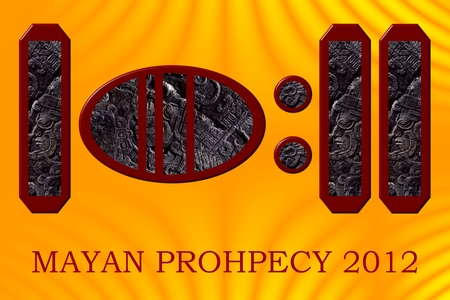 mayan prophecy: 2012 as represented in the Maya hieroglyphic numeric system - the year of the infamous Mayan Prophecy.