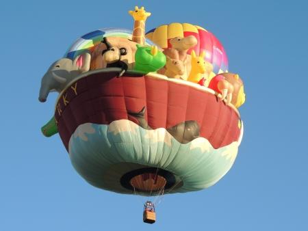 Albuquerque, New Mexico - October 13, 2012 - Albuquerque International Balloon Fiesta  Special Shapes Rodeo Noah Ark