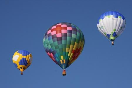 Albuquerque, New Mexico - October 13, 2012 - Albuquerque International Balloon Fiesta: Beautiful Variety of Balloons Ascending