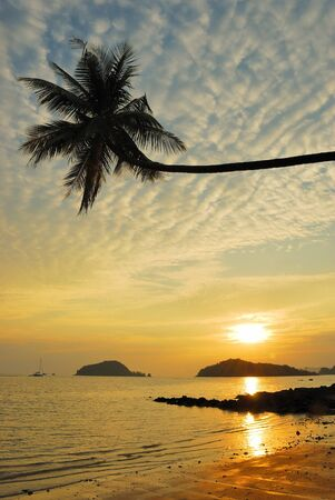 Palm Beach Sunset ,Trad, Thailand.  Stock Photo - 9273818