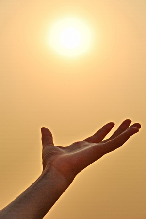 Sunset on the hand. Stock Photo - 9273810