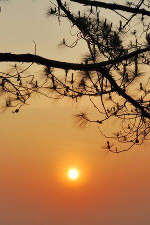 Sunset mountain photo