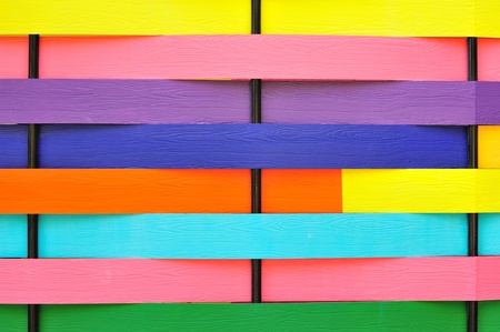Colorful wooden walls  photo