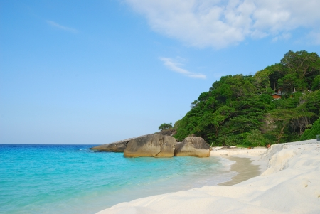 beach and sea at Thailand photo