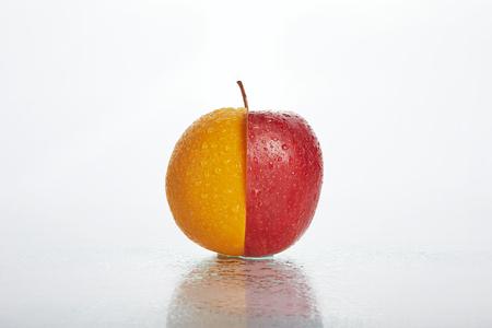 half apple half orange